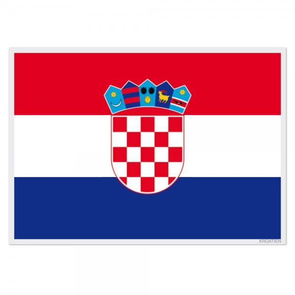 Selbsthaftende Flagge - Kroatien (A3)