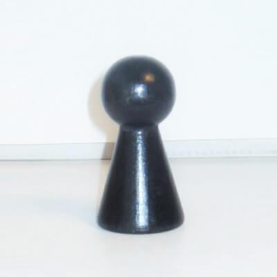 """Figurenkegel , Spielfigur """"Titan"""", Halmakegel aus Holz (60 mm), schwarz"""