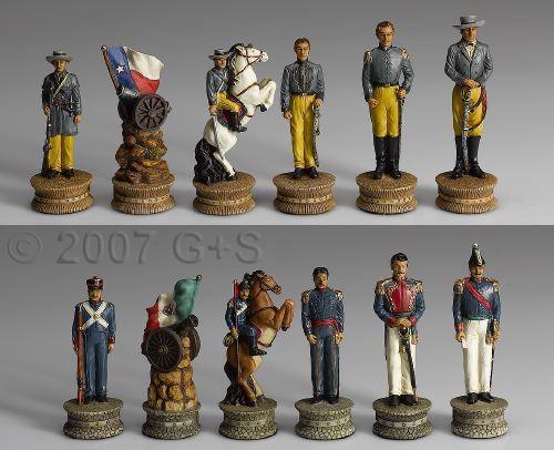 Schachfiguren Mexiko vs. Texas