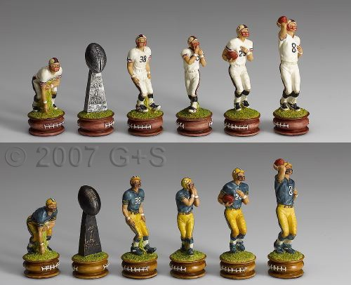 Schachfiguren Football