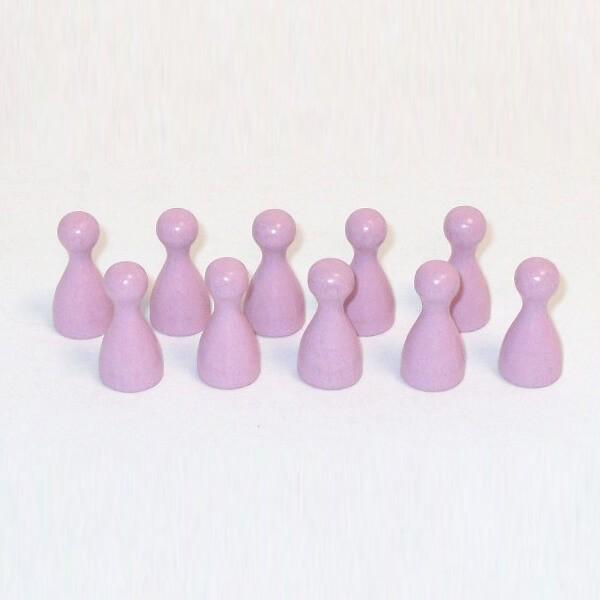100 Stück Halmakegel aus Holz (25 mm), rosa
