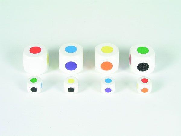 Großpackung: 50 Farbwürfel aus Ahornholz (16 mm), sortiert