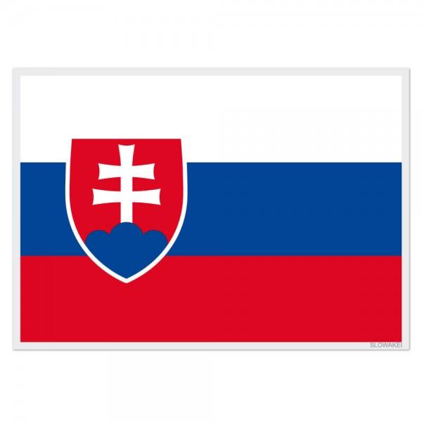 Selbsthaftende Flagge - Slowakei (A3)