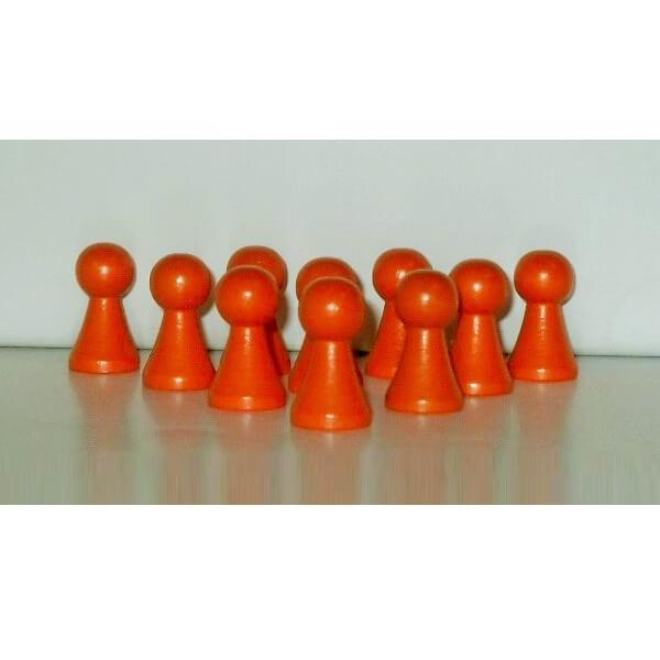 100 Stück Halmakegel aus Holz (27 mm), orange