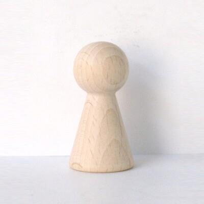 """Figurenkegel , Spielfigur """"Titan"""", Halmakegel aus Holz (60 mm), natur"""