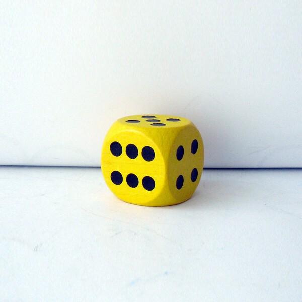 Jumbowürfel aus Holz (25 mm), gelb