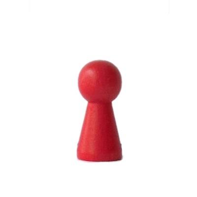 """Halmakegel , Spielfigur """"Groß"""" aus Holz (40 mm), rot"""