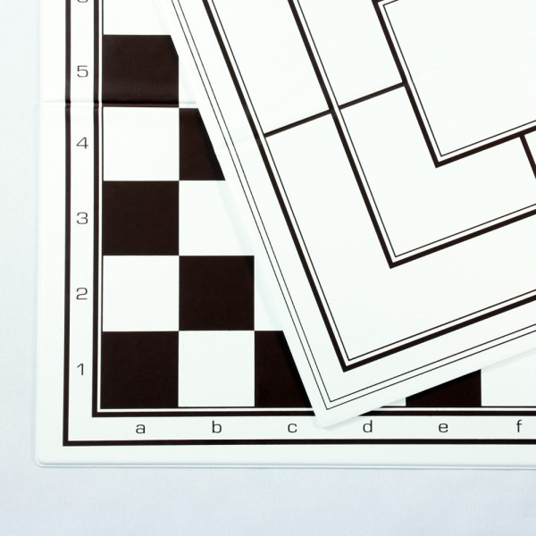 Faltbarer Schach-, Dame-, Mühleplan aus Kunststoff (Feldgröße 35 mm)