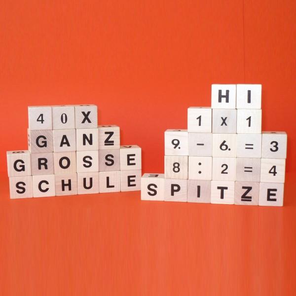 """Würfelset """"Ganz Große Schule"""", 40 Zahlen-und Buchstabenwürfel"""