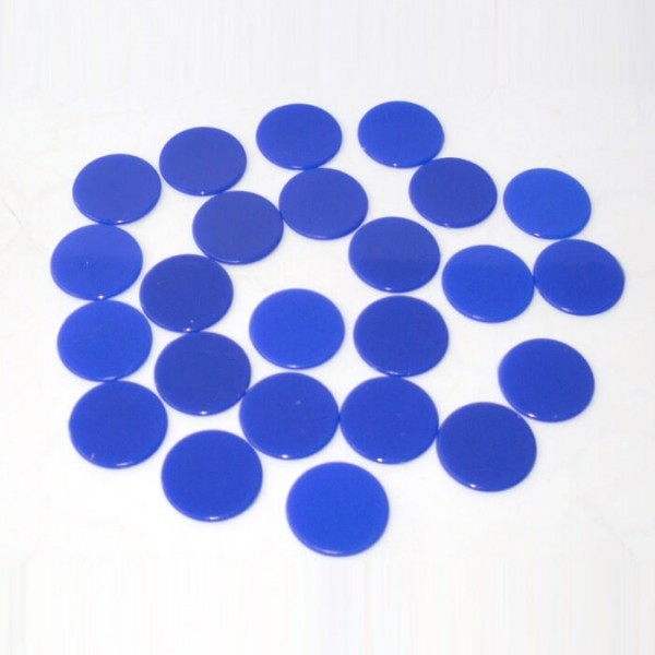 100 Roulette-Spielmarken, Spielchips, Zählchips aus Kunststoff blau (22 mm)