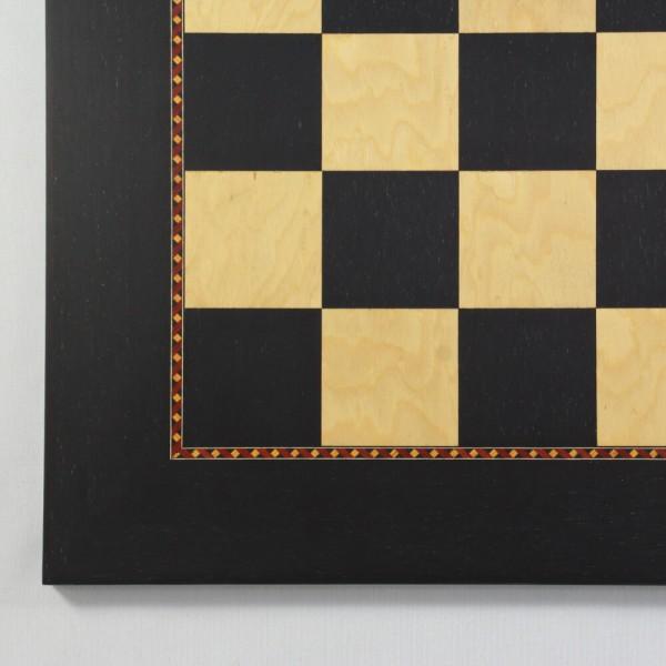 Schachbrett Anigré und Esche Maser (Feldgröße 60 mm)