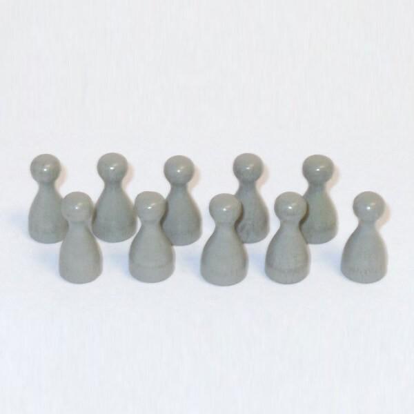 100 Stück Halmakegel aus Holz (25 mm), grau