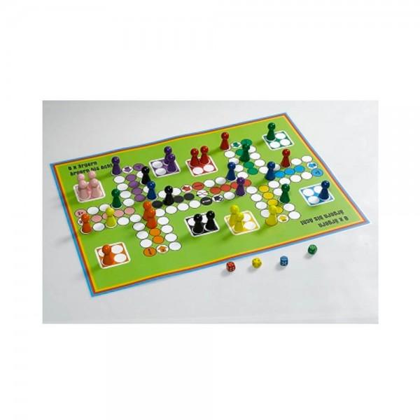 Ludo Spiel für bis zu 8 Personen Spielplan 420 x 597 mm (A2)