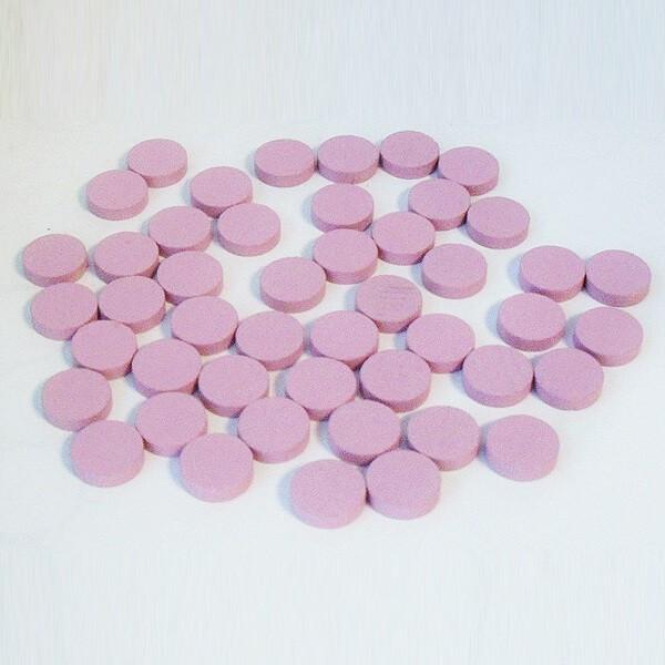 100 Spielchips, Roulette-Spielmarken, Zählchips aus Holz, rosa (15 x 4 mm)