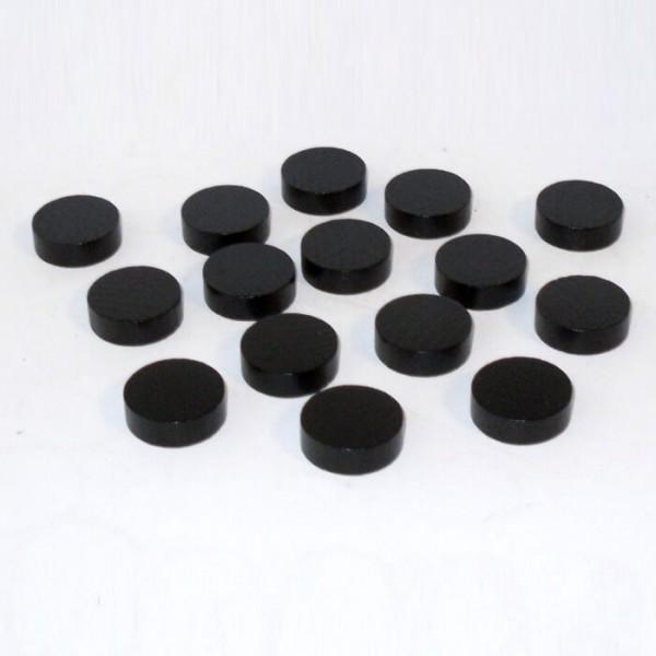 100 Spielchips, Roulette Spielmarken, Zählchips aus Holz, schwarz (21 x 7 mm)