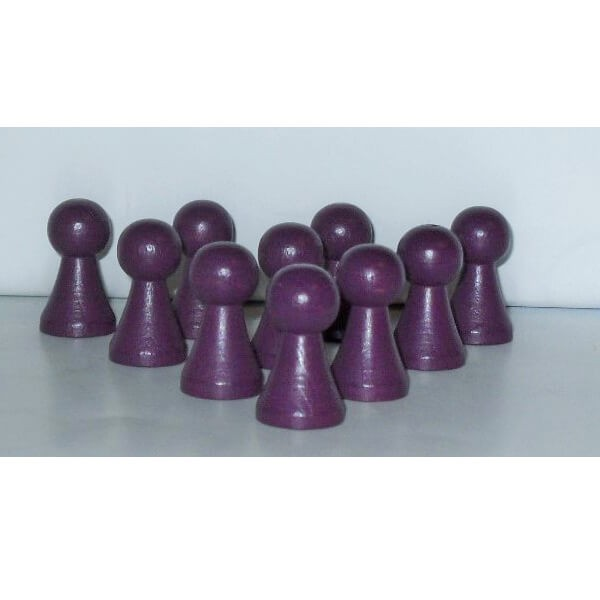 100 Stück Halmakegel aus Holz (27 mm), lila