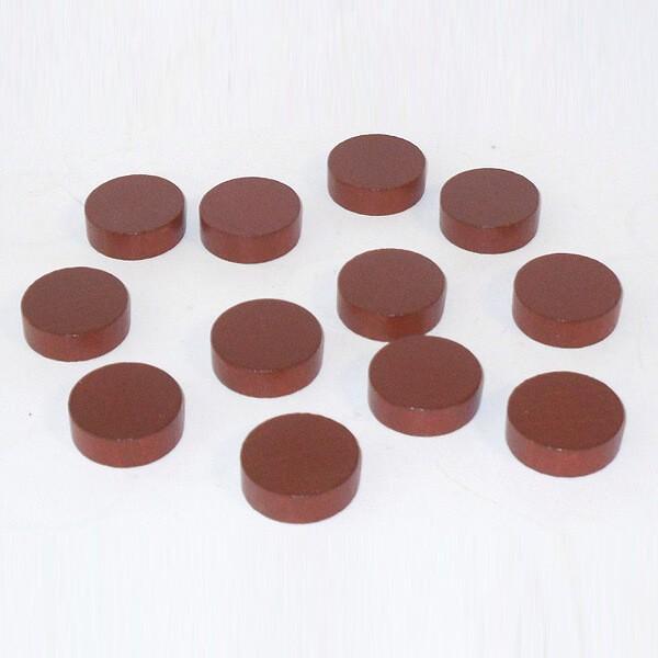 20 Spielchips, Roulette-Spielmarken, Zählchips aus Holz, braun (30 x 8 mm)