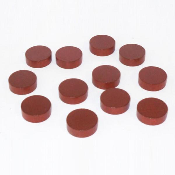 100 Spielchips, Roulette Spielmarken, Zählchips aus Holz, braun (21 x 7 mm)