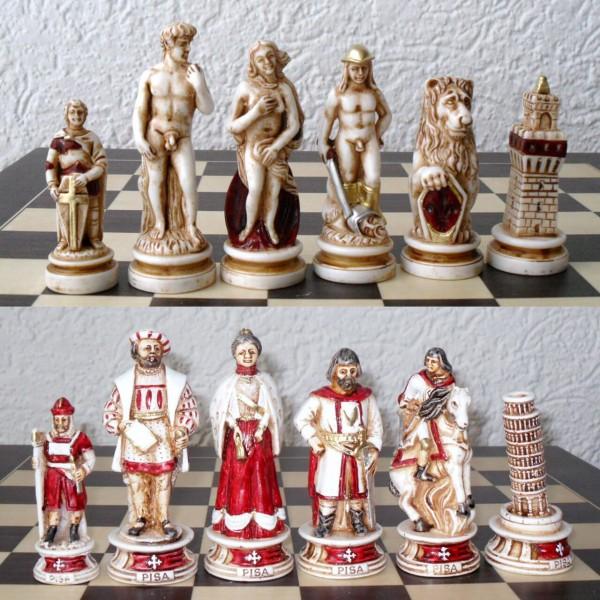 """Schachfiguren """"Maritime Republiken - Pisa/Venedig"""""""