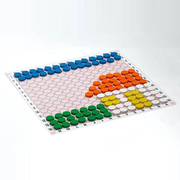 Magnetisches Legespiel - Kreativspiel Lern-und Übungsplan Groß, 42x42 cm
