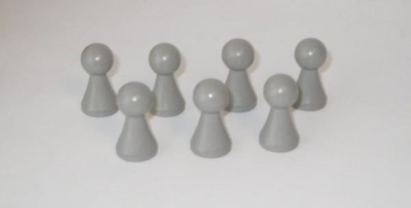 100 Stück Halmakegel aus Holz (27 mm), grau