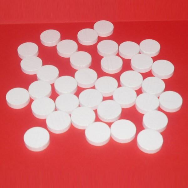 100 Spielchips, Roulette-Spielmarken, Zählchips aus Holz, weiß (15 x 4 mm)