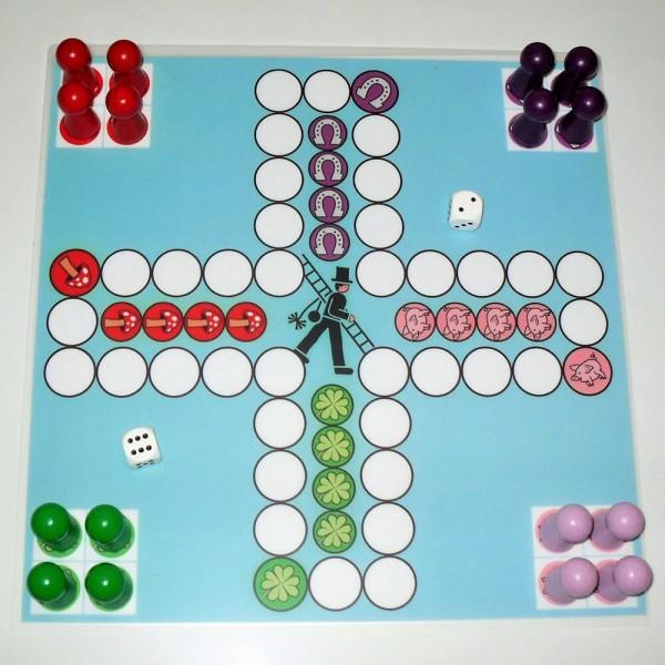Magnetisches Ludospiel Glücksbringer für 4 Personen, 30x30 cm