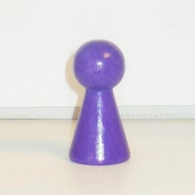 """Figurenkegel , Spielfigur """"Titan"""", Halmakegel aus Holz (60 mm), lila"""