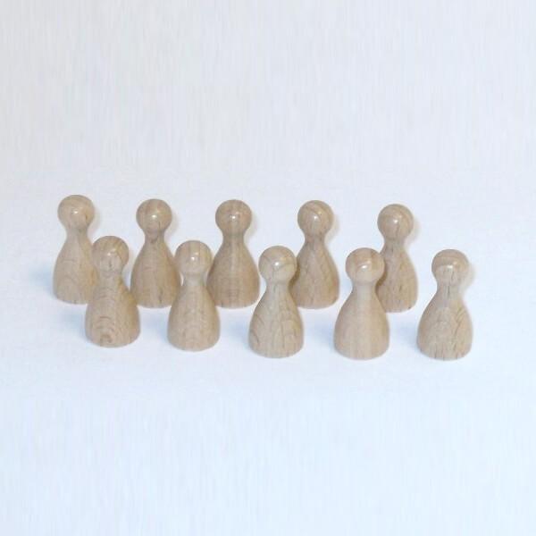100 Stück Halmakegel aus Holz (25 mm), naturfarben