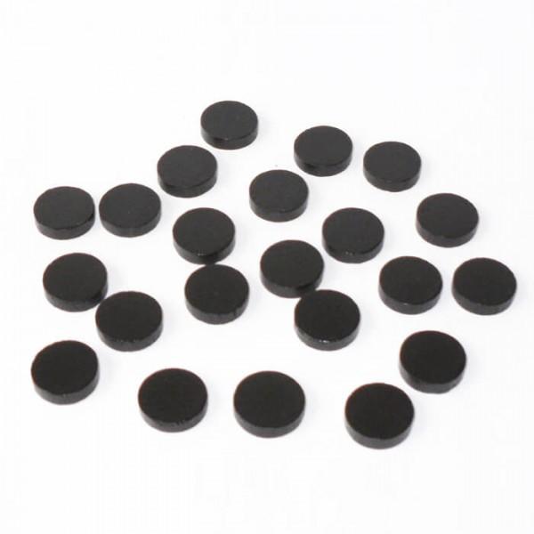 100 Spielchips, Roulette Spielmarken, Zählchips aus Holz, schwarz (15 x 4 mm)