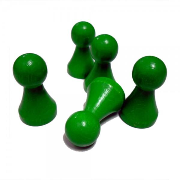 "großer grüner Halmakegel ""Maxi"" 25 x 43 mm aus Holz"