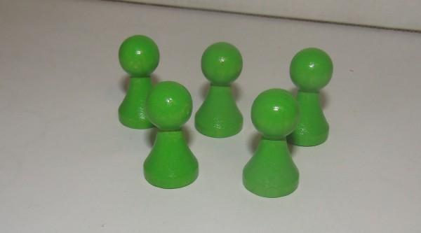100 Stück Halmakegel aus Holz (27 mm), leuchtgrün
