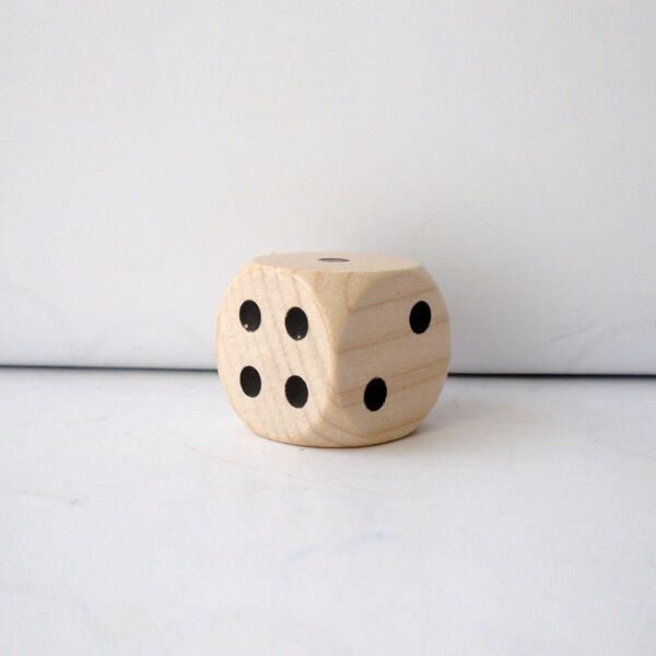 natur Holz Augenw/ürfel 25 mm