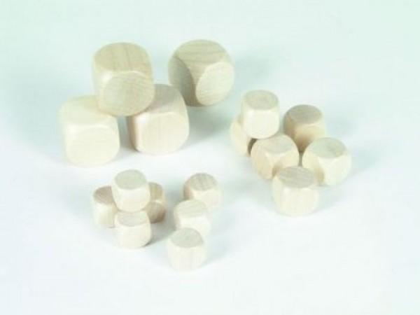 25 Stück Blankowürfel Holzwürfel natur (20 mm), natur