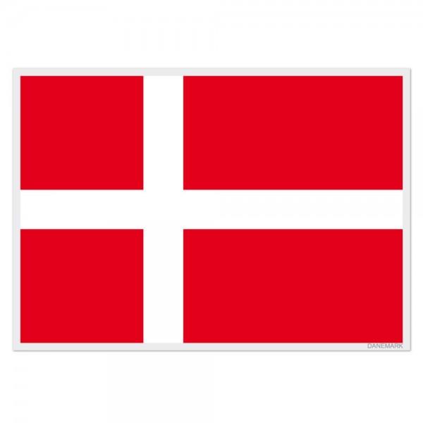 Selbsthaftende Flagge - Dänemark (A3)