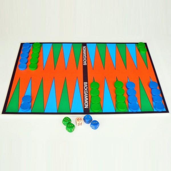 Magnetisches Brettspiel Backgammon, 30x42 cm