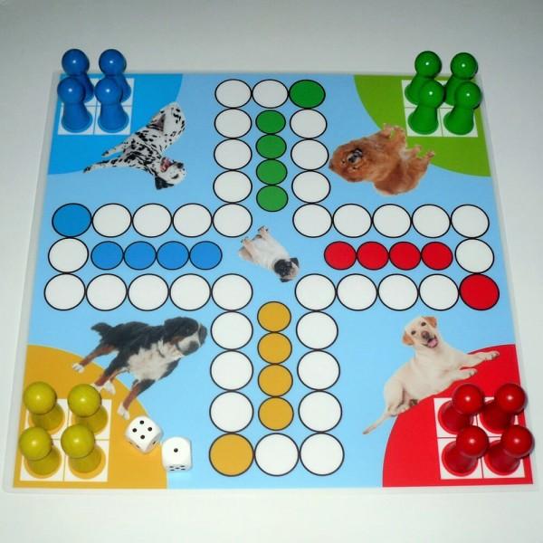 Magnetisches Ludospiel Hunde für 4 Personen, 30x30 cm