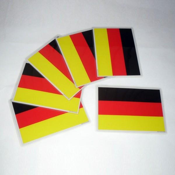 6 Stück Selbsthaftende Flaggen - Deutschland (A6)