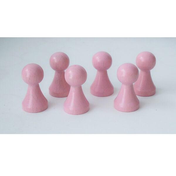 100 Stück Halmakegel aus Holz (27 mm), rosa