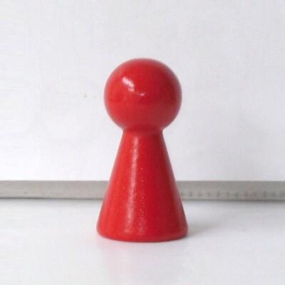 """Figurenkegel , Spielfigur """"Titan"""", Halmakegel aus Holz (60 mm), rot"""
