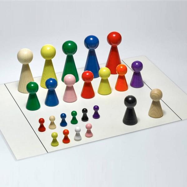 Figurenset für Systembrett Familienbrett - Set mit 24 Figuren und Aufstellungsplan