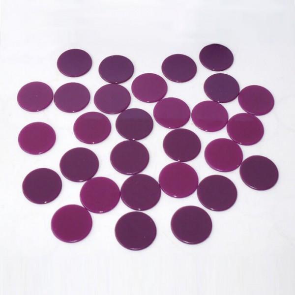 100 Roulette-Spielmarken, Spielchips, Zählchips aus Kunststoff lila (22 mm)