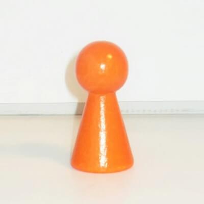 """Figurenkegel , Spielfigur """"Titan"""", Halmakegel aus Holz (60 mm), orange"""