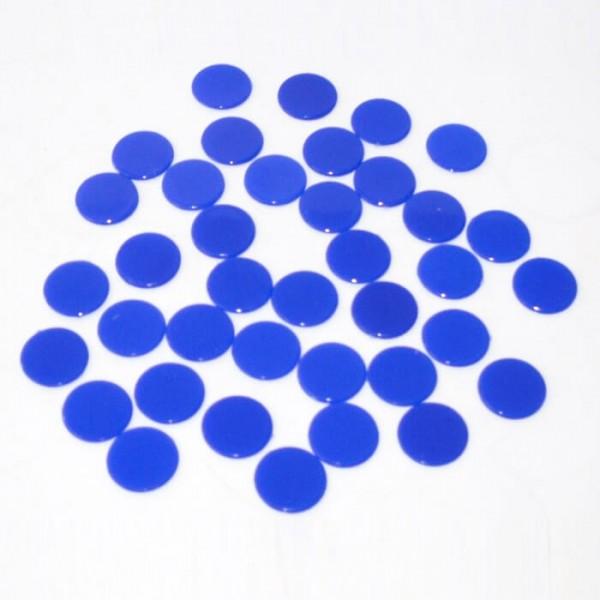 100 Roulette-Spielmarken, Spielchips, Zählchips aus Kunststoff blau (15 mm)