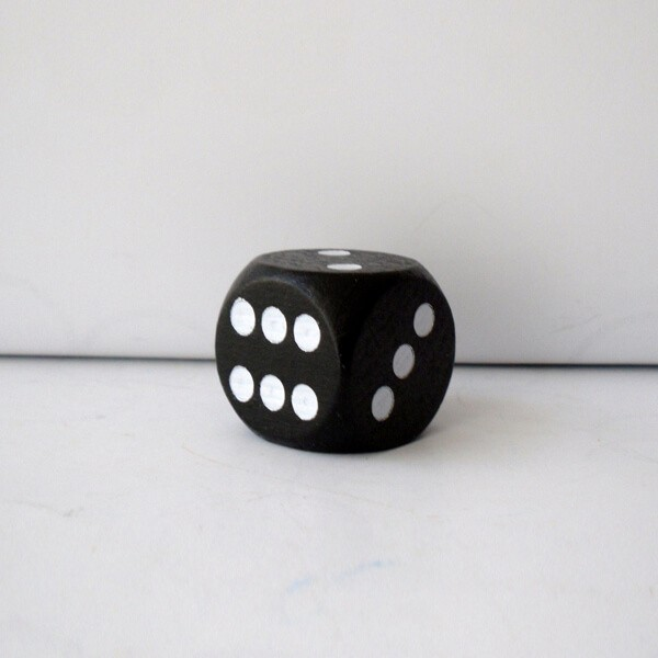 Jumbowürfel aus Holz (25 mm), schwarz