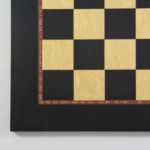 Schachbrett Anigré schwarz und Esche Maser (Feldgröße 50 mm)