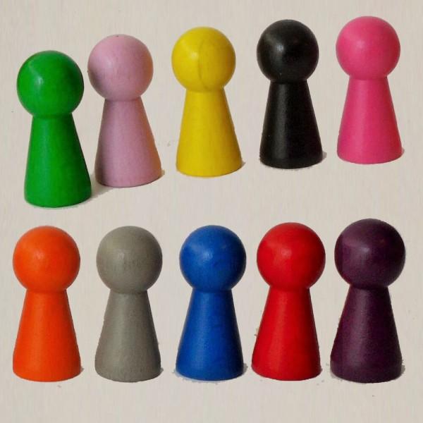 "10 Stück Figurenkegel, Spielfigur ""Groß"", Halmakegel aus Holz (40 mm)"