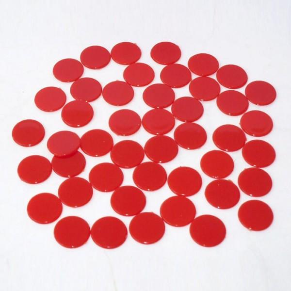 100 Roulette-Spielmarken, Spielchips, Zählchips aus Kunststoff rot (15 mm)
