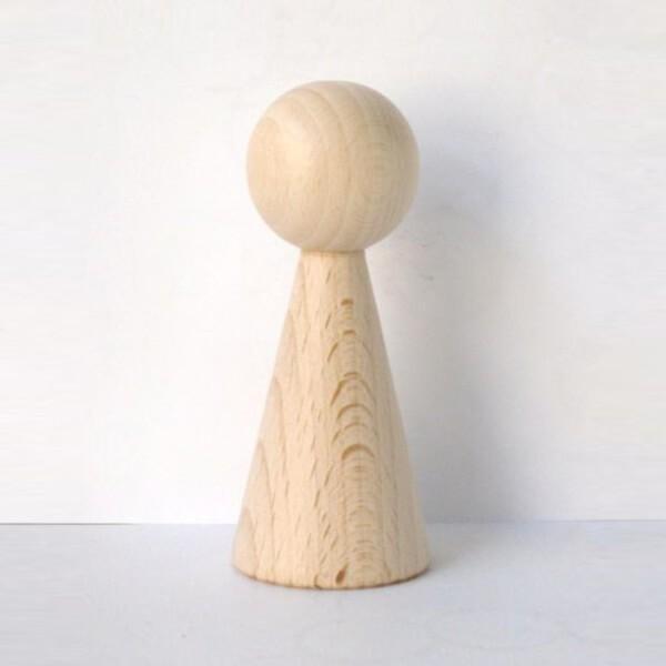 """Figurenkegel , Spielfigur , Halmakegel """"Gigant"""" aus Holz (100 mm), natur"""