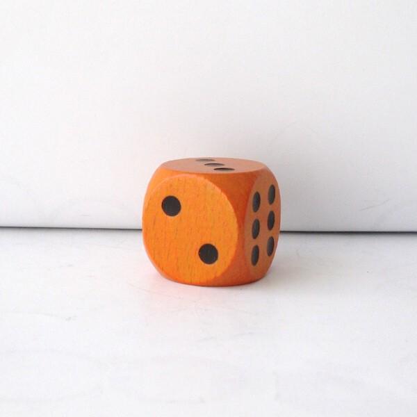Jumbowürfel aus Holz (25 mm), orange